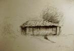Графика на зиду трпезарије планинарског дома у Дојкинцима (бивше карауле)