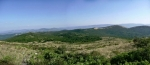 Панорама Лисца и Голе планине између којих је Мужиначка леденица
