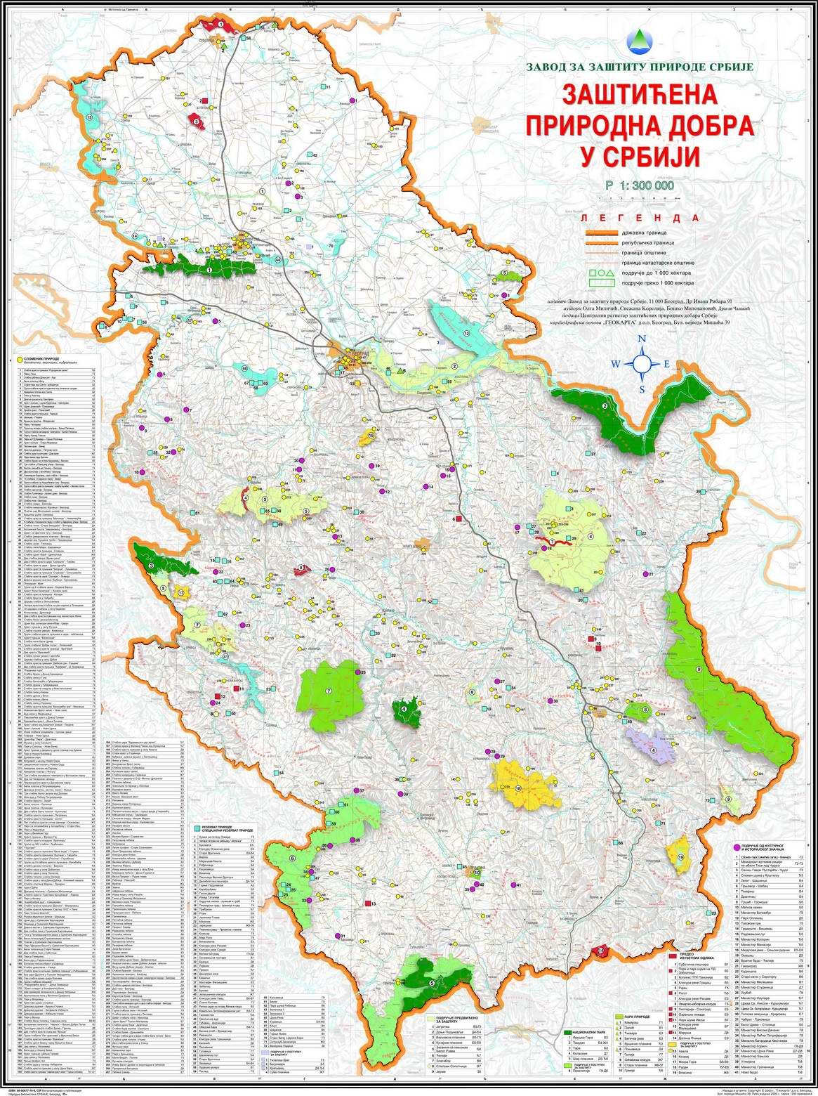Nacionalni Parkovi Srbije Karta Superjoden